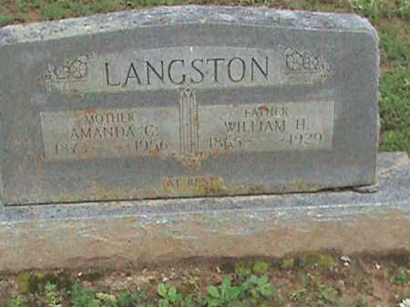 LANGSTON, AMANDA C. - Izard County, Arkansas | AMANDA C. LANGSTON - Arkansas Gravestone Photos