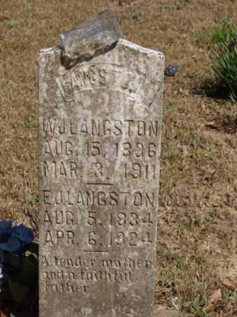 LANGSTON, WILLIAM JASPER - Izard County, Arkansas | WILLIAM JASPER LANGSTON - Arkansas Gravestone Photos