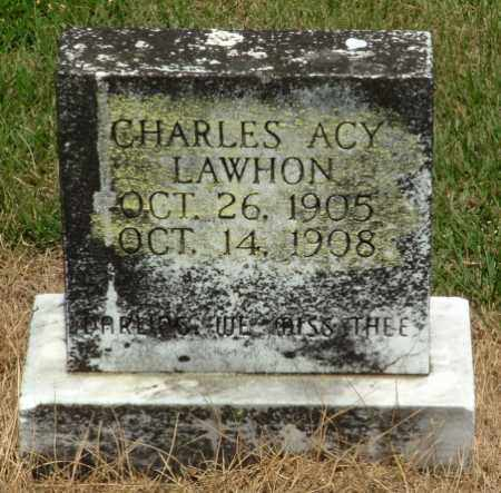 LAWHON, CHARLES ACY - Izard County, Arkansas | CHARLES ACY LAWHON - Arkansas Gravestone Photos