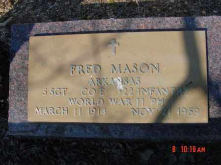 MASON  (VETERAN WWII), FRED - Izard County, Arkansas | FRED MASON  (VETERAN WWII) - Arkansas Gravestone Photos