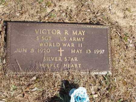 MAY  (VETERAN WWII), VICTOR R - Izard County, Arkansas | VICTOR R MAY  (VETERAN WWII) - Arkansas Gravestone Photos