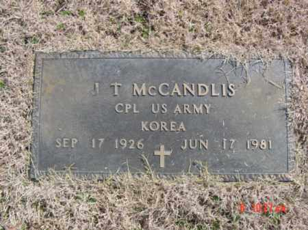 MC CANDLIS  (VETERAN KOR), J T - Izard County, Arkansas | J T MC CANDLIS  (VETERAN KOR) - Arkansas Gravestone Photos