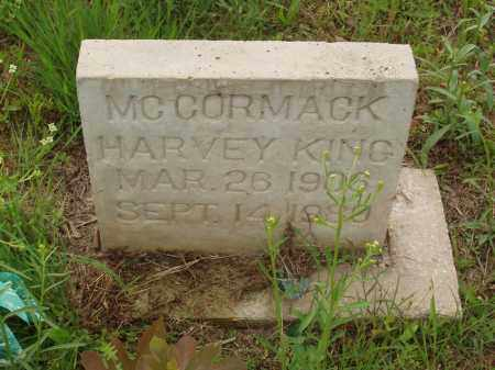 MC CORMACK, HARVEY KING - Izard County, Arkansas | HARVEY KING MC CORMACK - Arkansas Gravestone Photos