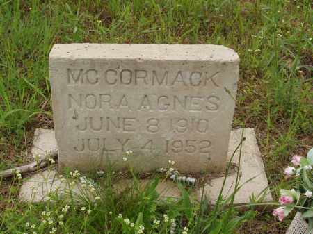 HANEY MCCORMACK, NORA AGNES - Izard County, Arkansas | NORA AGNES HANEY MCCORMACK - Arkansas Gravestone Photos