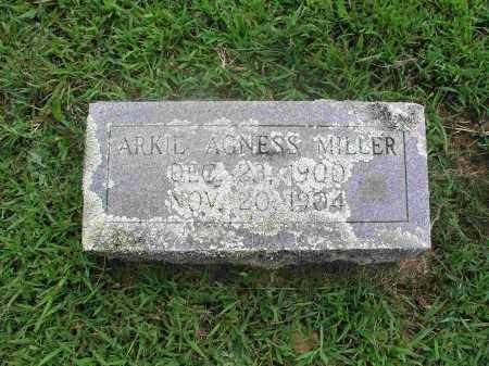 MILLER, ARKIE AGNESS - Izard County, Arkansas | ARKIE AGNESS MILLER - Arkansas Gravestone Photos
