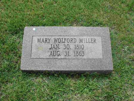WOLFORD MILLER, MARY - Izard County, Arkansas | MARY WOLFORD MILLER - Arkansas Gravestone Photos