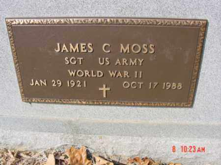 MOSS  (VETERAN WWII), JAMES C - Izard County, Arkansas | JAMES C MOSS  (VETERAN WWII) - Arkansas Gravestone Photos