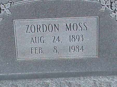 MOSS, ZORDON - Izard County, Arkansas | ZORDON MOSS - Arkansas Gravestone Photos