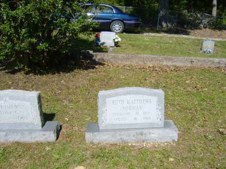 MATTHEWS NORMAN, RUTH - Izard County, Arkansas | RUTH MATTHEWS NORMAN - Arkansas Gravestone Photos