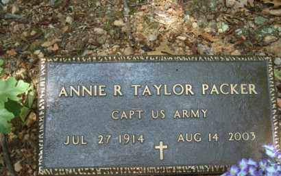TAYLOR PACKER (VETERAN), ANNIE R - Izard County, Arkansas | ANNIE R TAYLOR PACKER (VETERAN) - Arkansas Gravestone Photos