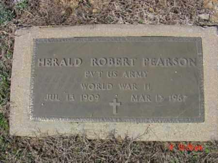 PEARSON  (VETERAN WWII), HERALD ROBERT - Izard County, Arkansas | HERALD ROBERT PEARSON  (VETERAN WWII) - Arkansas Gravestone Photos