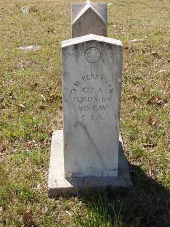 PERRYMAN (VETERAN CSA), DAVID M - Izard County, Arkansas | DAVID M PERRYMAN (VETERAN CSA) - Arkansas Gravestone Photos
