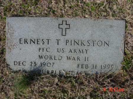 PINKSTON  (VETERAN WWII), ERNEST T - Izard County, Arkansas | ERNEST T PINKSTON  (VETERAN WWII) - Arkansas Gravestone Photos