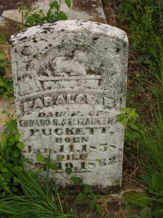 PUCKETT, PARALEE B - Izard County, Arkansas | PARALEE B PUCKETT - Arkansas Gravestone Photos