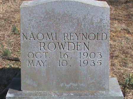 ROWDEN, NAOMI - Izard County, Arkansas | NAOMI ROWDEN - Arkansas Gravestone Photos