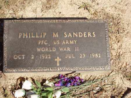 SANDERS  (VETERAN WWII), PHILLIP M - Izard County, Arkansas | PHILLIP M SANDERS  (VETERAN WWII) - Arkansas Gravestone Photos
