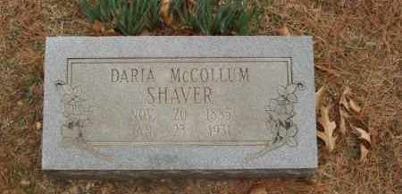 MC COLLUM SHAVER, DARIA - Izard County, Arkansas | DARIA MC COLLUM SHAVER - Arkansas Gravestone Photos