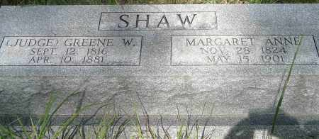 SHAW, JUDGE GREENE WILLIAM - Izard County, Arkansas | JUDGE GREENE WILLIAM SHAW - Arkansas Gravestone Photos