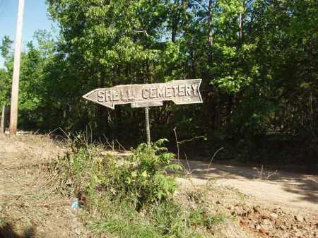 *, SHELL CEMETERY SIGN - Izard County, Arkansas | SHELL CEMETERY SIGN * - Arkansas Gravestone Photos