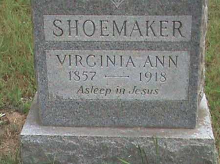 SHOEMAKER, VIRGINIA ANN - Izard County, Arkansas | VIRGINIA ANN SHOEMAKER - Arkansas Gravestone Photos
