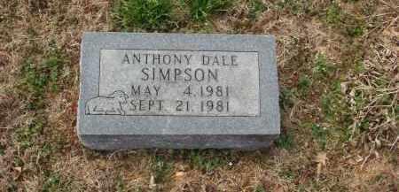 SIMPSON, ANTHONY DALE - Izard County, Arkansas | ANTHONY DALE SIMPSON - Arkansas Gravestone Photos