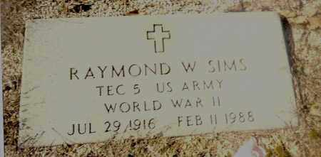 SIMS  (VETERAN WWII), RAYMOND W. - Izard County, Arkansas | RAYMOND W. SIMS  (VETERAN WWII) - Arkansas Gravestone Photos