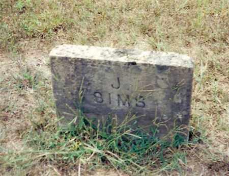 SIMS, J. - Izard County, Arkansas | J. SIMS - Arkansas Gravestone Photos
