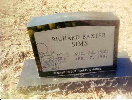 SIMS, RICHARD BAXTER - Izard County, Arkansas | RICHARD BAXTER SIMS - Arkansas Gravestone Photos
