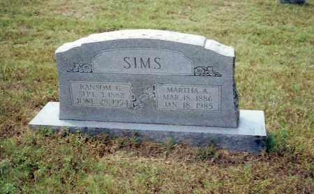 SIMS, RANSOME G. - Izard County, Arkansas | RANSOME G. SIMS - Arkansas Gravestone Photos