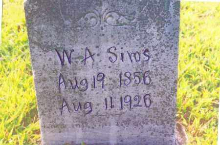 SIMS, WILLIAM ANDERSON - Izard County, Arkansas | WILLIAM ANDERSON SIMS - Arkansas Gravestone Photos
