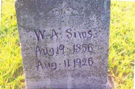 SIMS, WILLIAM ANDERSON - Izard County, Arkansas | WILLIAM ANDERSON SIMS - Arkansas Gravestone Photos