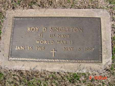 SINGLETON  (VETERAN WWII), ROY D - Izard County, Arkansas | ROY D SINGLETON  (VETERAN WWII) - Arkansas Gravestone Photos