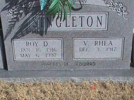 SINGLETON, ROY D. - Izard County, Arkansas | ROY D. SINGLETON - Arkansas Gravestone Photos