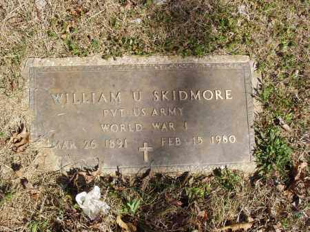 SKIDMORE  (VETERAN WWI), WILLIAM U - Izard County, Arkansas | WILLIAM U SKIDMORE  (VETERAN WWI) - Arkansas Gravestone Photos
