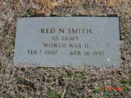SMITH  (VETERAN WWII), RED N - Izard County, Arkansas | RED N SMITH  (VETERAN WWII) - Arkansas Gravestone Photos