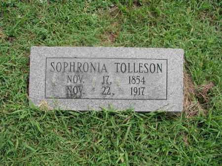 TOLLESON, SOPHRONIA DARCUS - Izard County, Arkansas | SOPHRONIA DARCUS TOLLESON - Arkansas Gravestone Photos