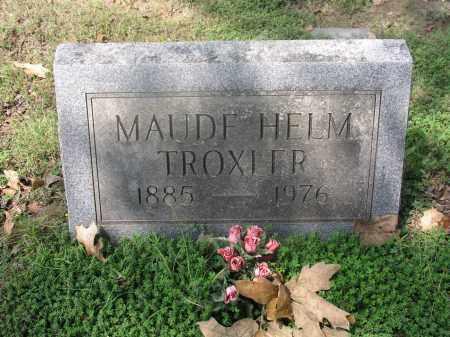 TROXLER, MAUD - Izard County, Arkansas | MAUD TROXLER - Arkansas Gravestone Photos