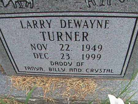TURNER, LARRY DEWAYNE - Izard County, Arkansas | LARRY DEWAYNE TURNER - Arkansas Gravestone Photos