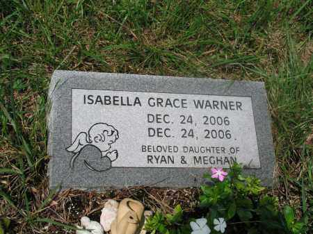 WARNER, ISABELLA GRACE - Izard County, Arkansas | ISABELLA GRACE WARNER - Arkansas Gravestone Photos