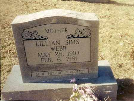 SIMS WEBB, LILLIAN BEATRICE - Izard County, Arkansas | LILLIAN BEATRICE SIMS WEBB - Arkansas Gravestone Photos