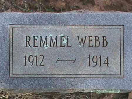 WEBB, REMMEL - Izard County, Arkansas | REMMEL WEBB - Arkansas Gravestone Photos