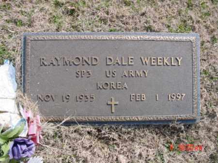 WEEKLY  (VETERAN KOR), RAYMOND DALE - Izard County, Arkansas | RAYMOND DALE WEEKLY  (VETERAN KOR) - Arkansas Gravestone Photos