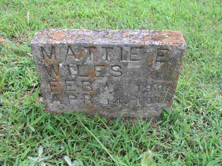 WILES, MATTIE ELIZABETH - Izard County, Arkansas | MATTIE ELIZABETH WILES - Arkansas Gravestone Photos