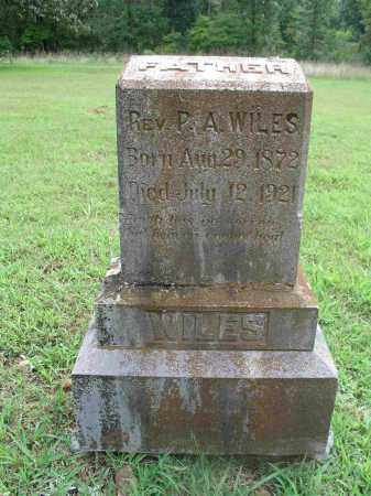 WILES REV, PASCHAL ALVAH - Izard County, Arkansas | PASCHAL ALVAH WILES REV - Arkansas Gravestone Photos