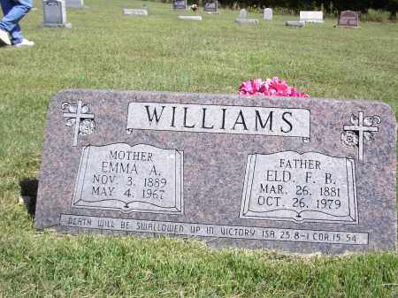 WILLIAMS, F. B. - Izard County, Arkansas | F. B. WILLIAMS - Arkansas Gravestone Photos