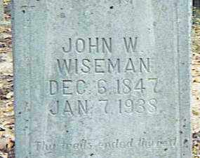 WISEMAN, JOHN W. - Izard County, Arkansas | JOHN W. WISEMAN - Arkansas Gravestone Photos