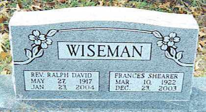 WISEMAN, RALPH DAVID, REV. - Izard County, Arkansas | RALPH DAVID, REV. WISEMAN - Arkansas Gravestone Photos
