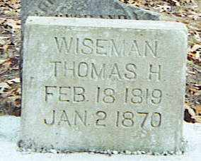 WISEMAN, THOMAS H. - Izard County, Arkansas | THOMAS H. WISEMAN - Arkansas Gravestone Photos