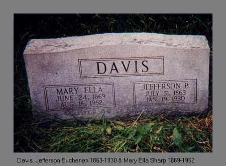 DAVIS, JEFFERSON BUCHANAN - Izard County, Arkansas | JEFFERSON BUCHANAN DAVIS - Arkansas Gravestone Photos