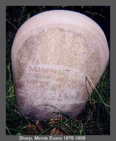 EVANS SHARP, MINNIE - Izard County, Arkansas | MINNIE EVANS SHARP - Arkansas Gravestone Photos